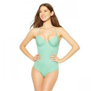NWT Shade & Shore Light Lift Swimsuit 36DD Green